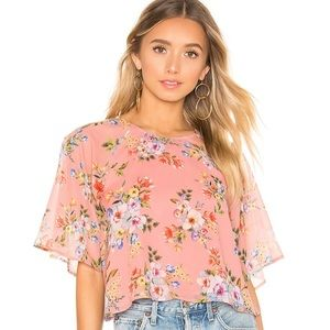 House of Harlow Marloes Rose Floral top
